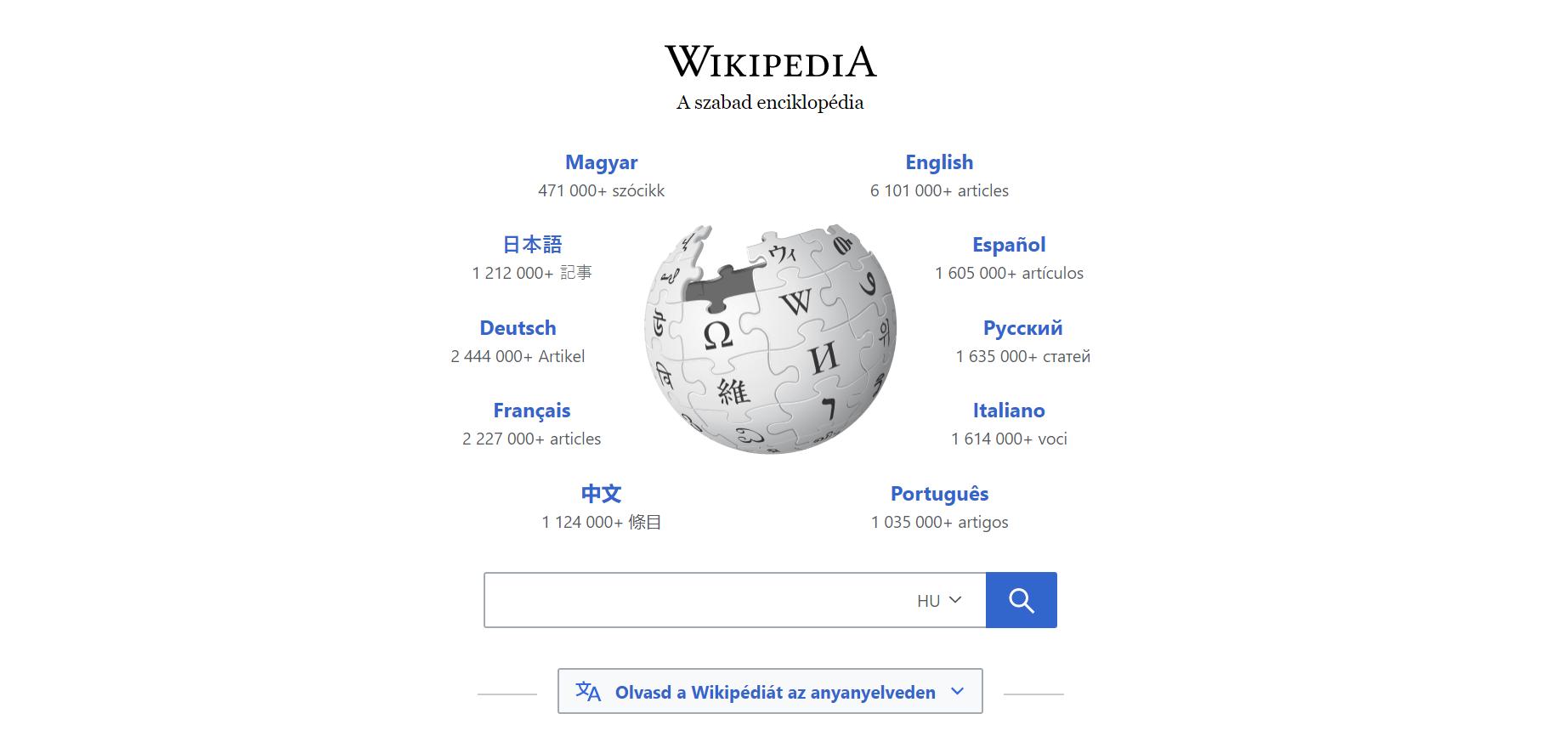 Olvasd és szerkeszd a Wikipédiát az anyanyelveden